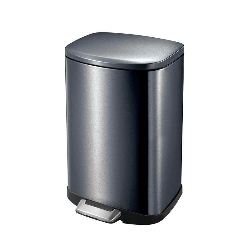 Eko – Della Step Pedal Rubbish Bin 12Ltr Black Steel