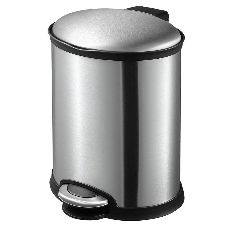 Eko – Ellipse Step Pedal Rubbish Bin 6Ltr Stainless Steel