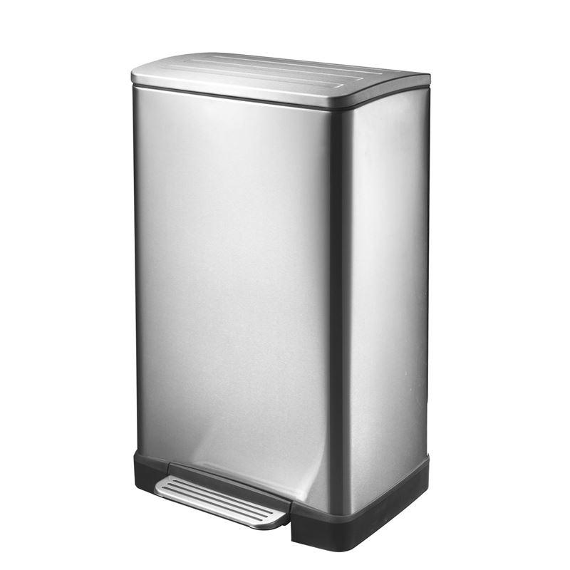 Eko – E-cube Step Pedal Rubbish Bin 30Ltr Stainless Steel
