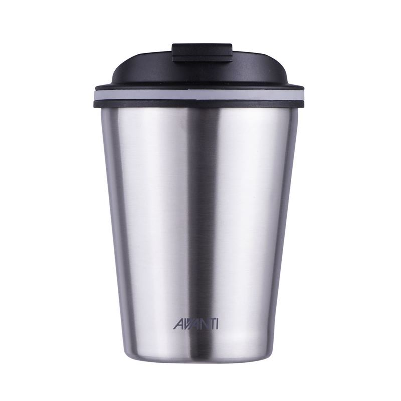 Avanti – GOCUP Double Wall Stainless Steel Coffee Cup 280ml Brushed