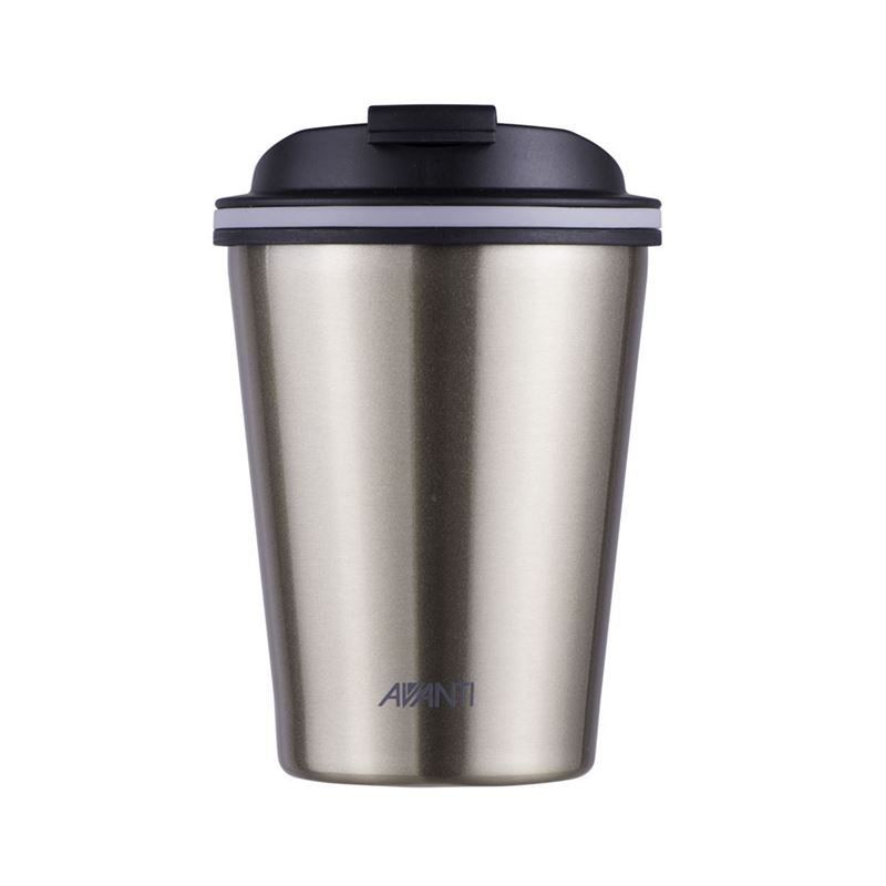 Avanti – GOCUP Double Wall Stainless Steel Coffee Cup 280ml Champagne