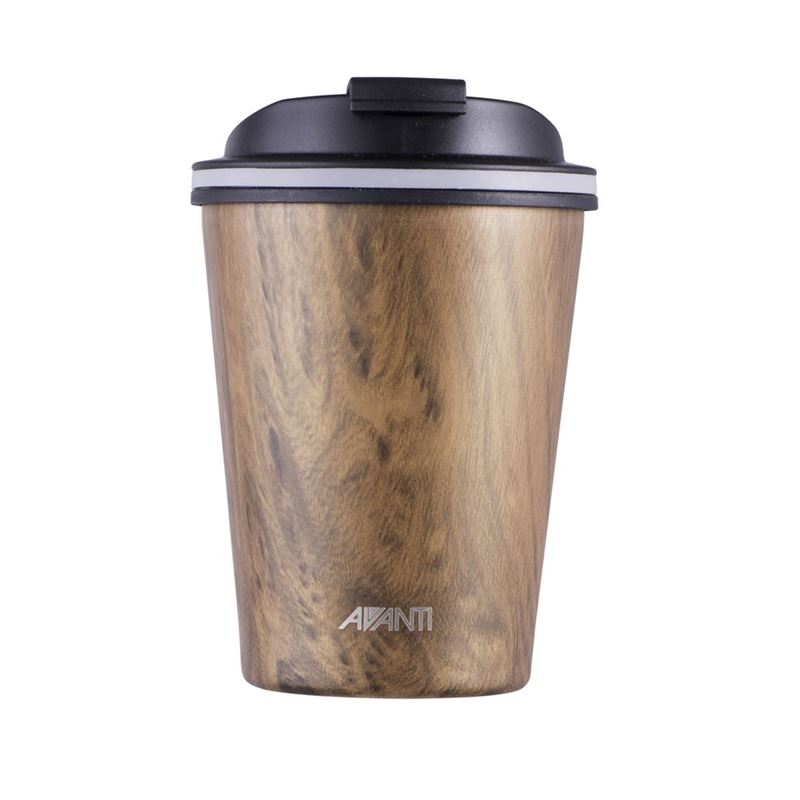 Avanti – GOCUP Double Wall Stainless Steel Coffee Cup 280ml Driftwood *
