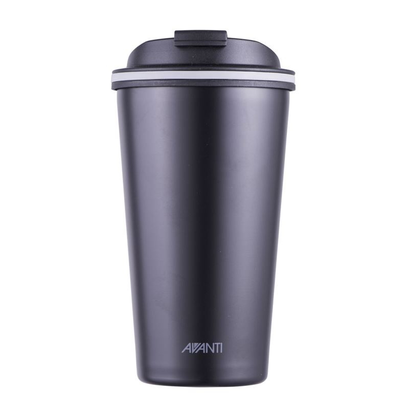 Avanti – GOCUP Double Wall Stainless Steel Coffee Cup 410ml Black