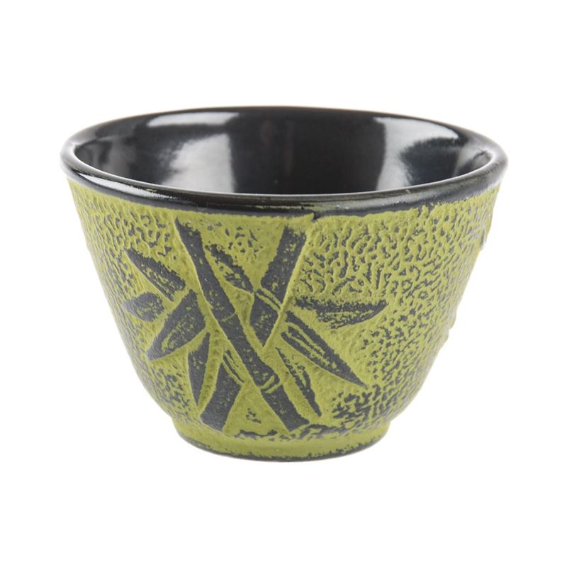 Benzer – Orient Express Bamboo Cast Iron Tea Cup 120ml Lime with Black Finish