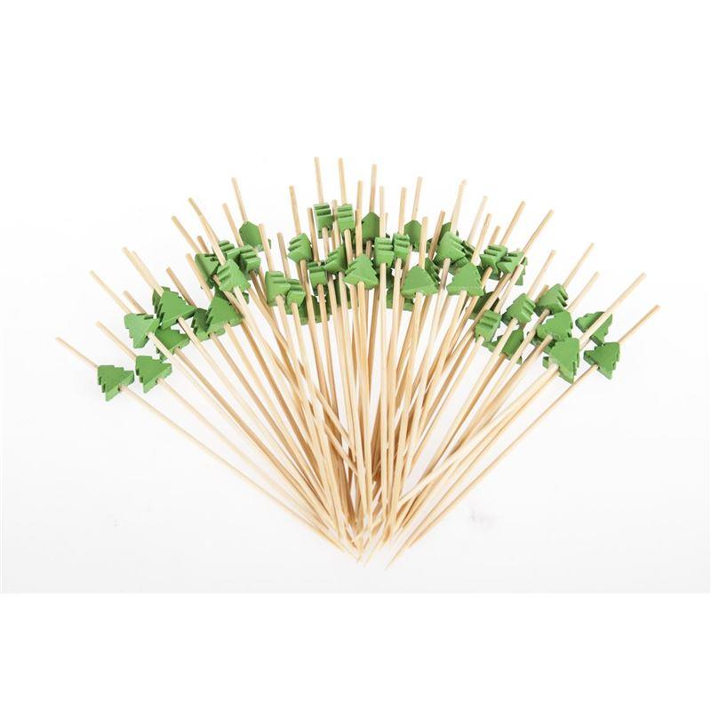 Benzer – Ecozon Christmas Bamboo Mini Skewer 12cm Pack of 50