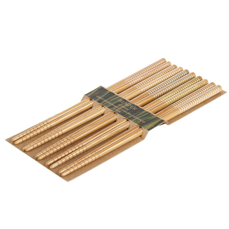 Benzer – Ecozon Bamboo Orient Collection Bamboo Chopsticks 5 Pairs Design 27