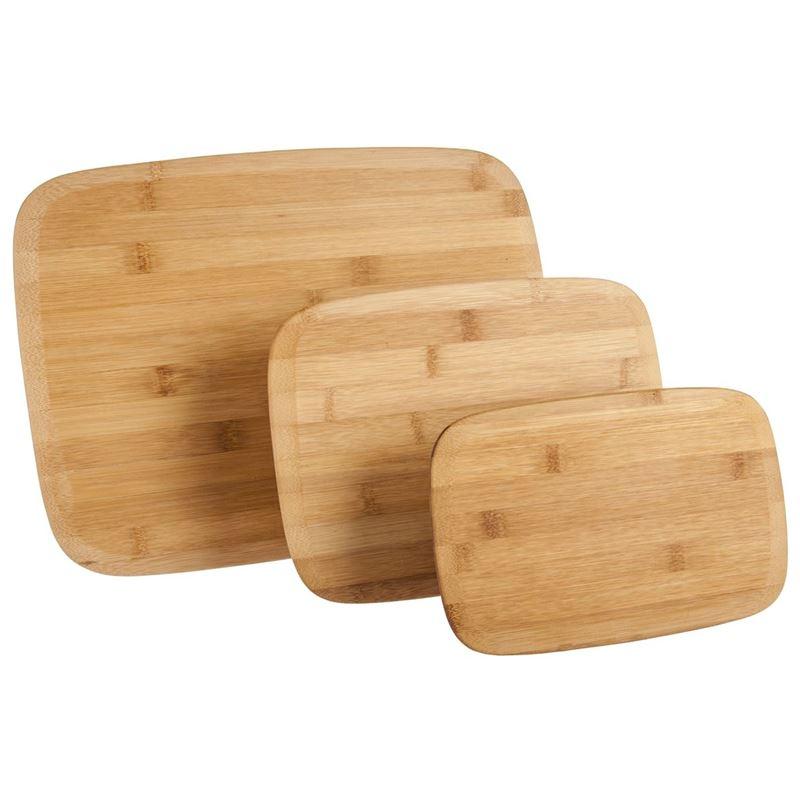 Benzer – Ecozon Bamboo Complete Bamboo Rectangular Cutting Board 3pc Set