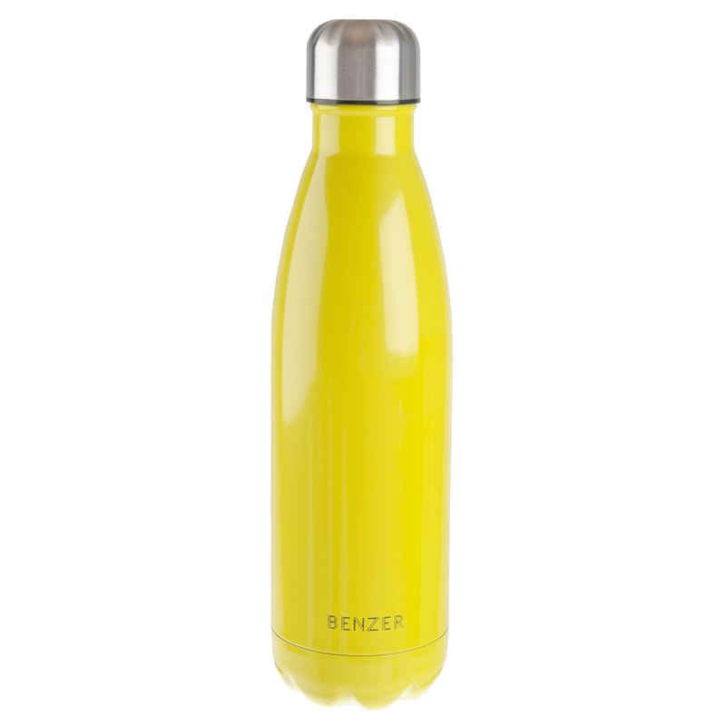Benzer – Activ Double Wall Insulated Stainless Steel Bottle 500ml Yellow