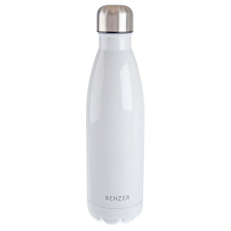 Benzer – Activ Double Wall Insulated Stainless Steel Bottle 500ml White
