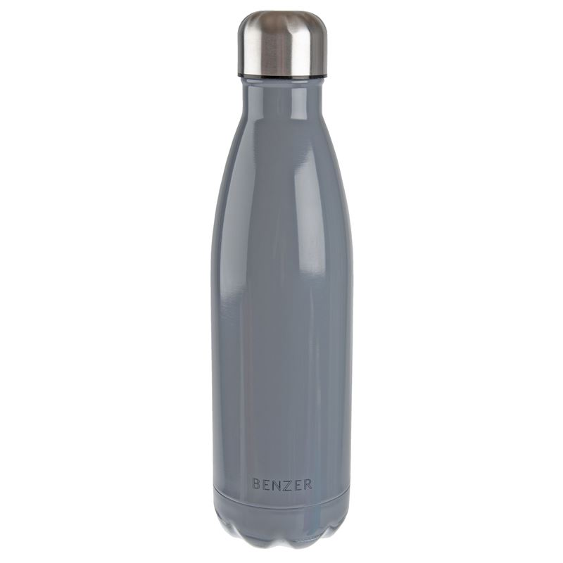 Benzer – Activ Double Wall Insulated Stainless Steel Bottle 500ml Grey