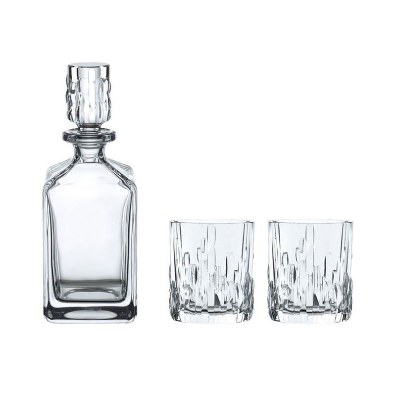 Nachtmann Crystal – Shu Fa Whisky Tumbler and Decanter  Set of 3 (Made in Germany)
