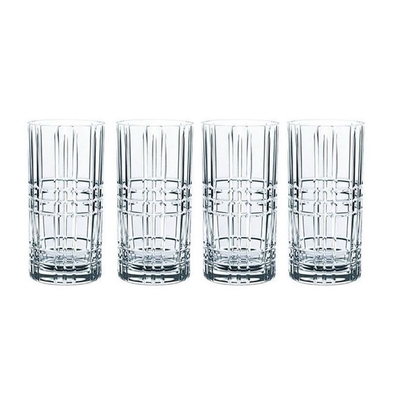 Nachtmann Crystal – Square Long Drink 445ml Set of 4 (Made in Germany)