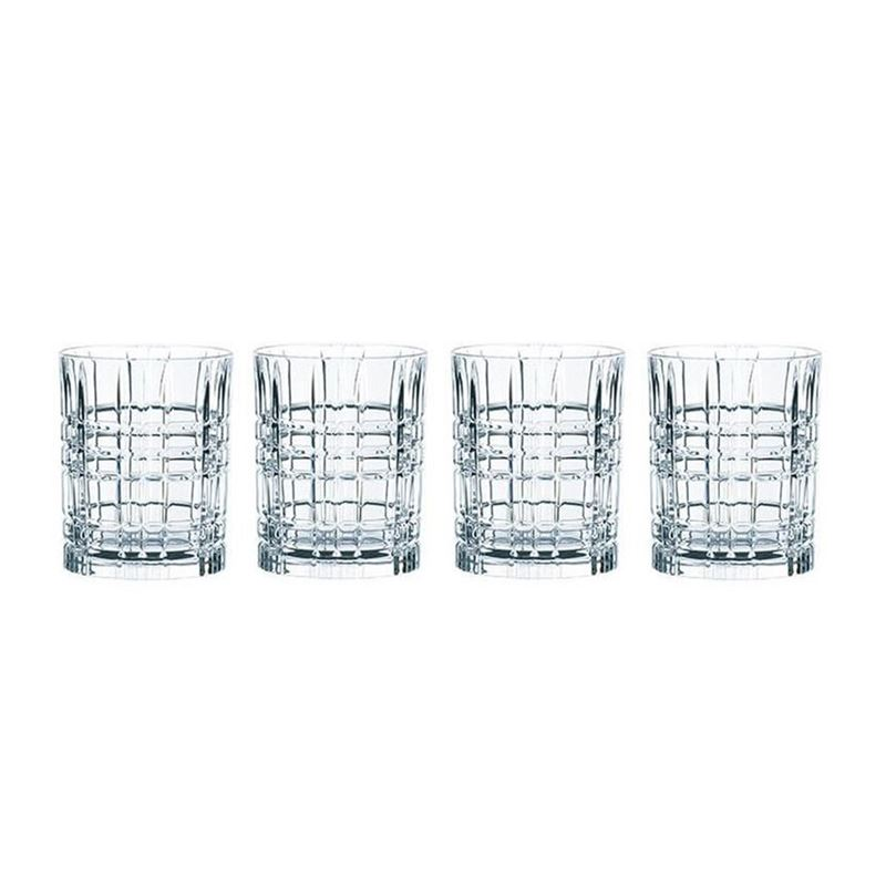 Nachtmann Crystal – Square Whisky 345ml Set of 4 (Made in Germany)