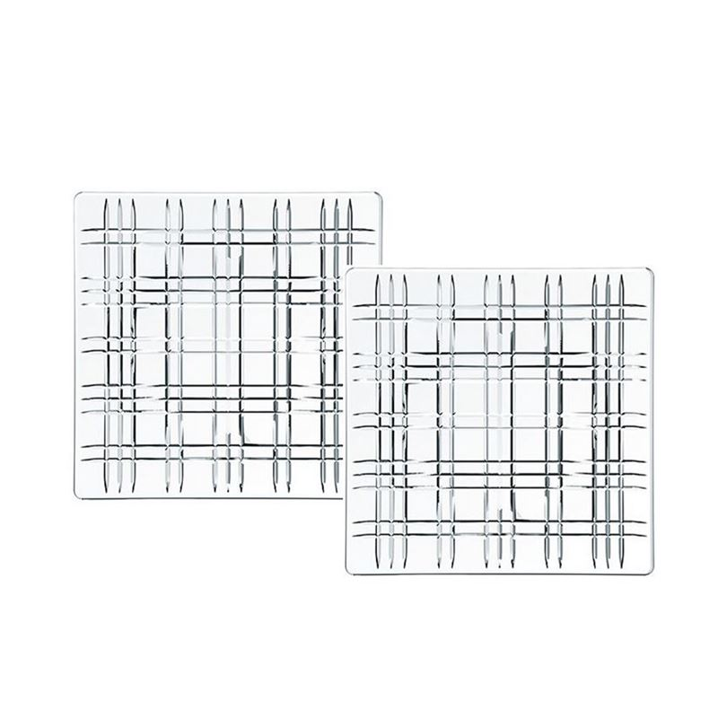 Nachtmann Crystal – Square Plate 21cm Set of 2 (Made in Germany)