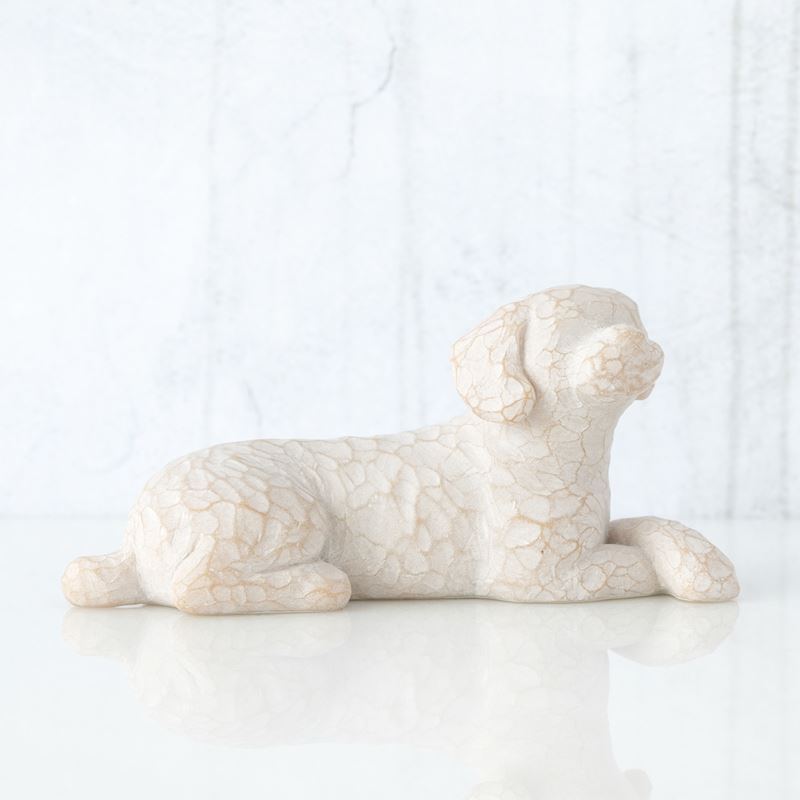 Willow Tree – Love my Dog Lying 3.5cm