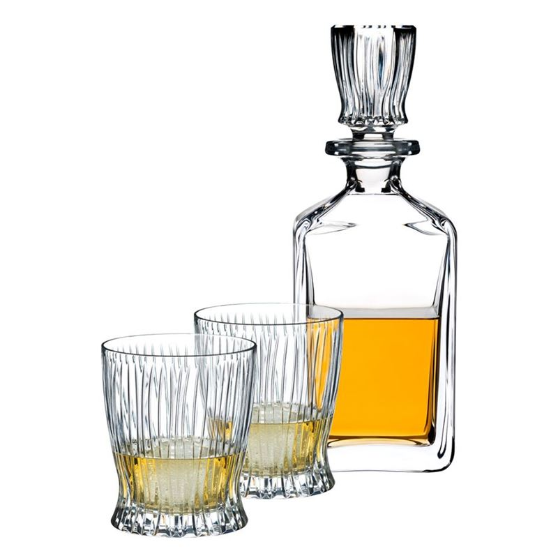 Riedel – Fire 3pc Whisky Decanter and Whisky Glasses