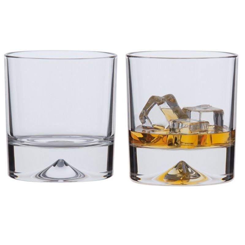 Dartington Crystal – Dimple Double Old Fashioned Whisky Set of 2 (Made in the U.K.)