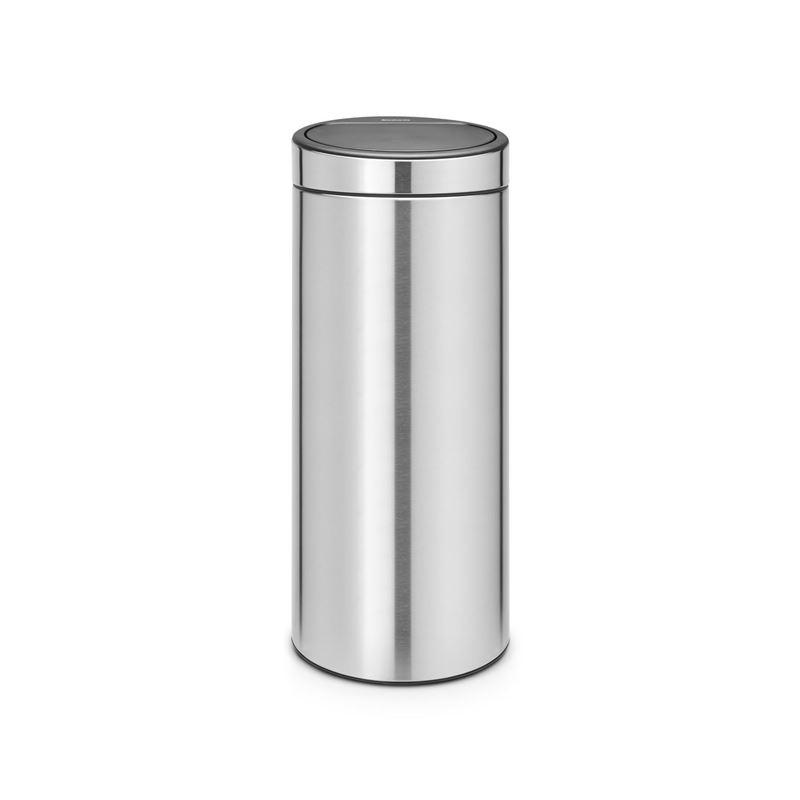 Brabantia – Touch Bin 30Ltr Finger Print Proof Matte Steel