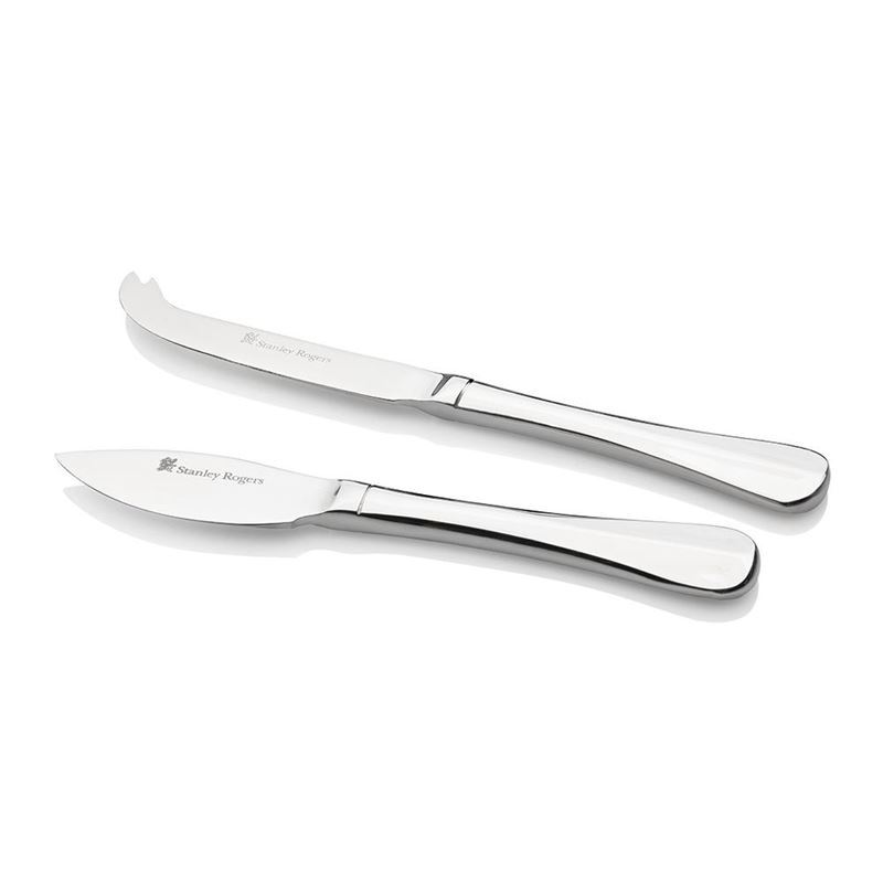 Stanley Rogers – Baguette 18/10 Stainless Steel Cheese Knife 2pc Set