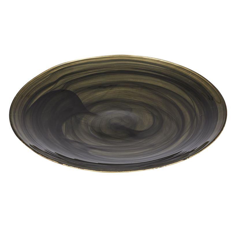 Anya – Gold and Black Glass Platter 4x39cm