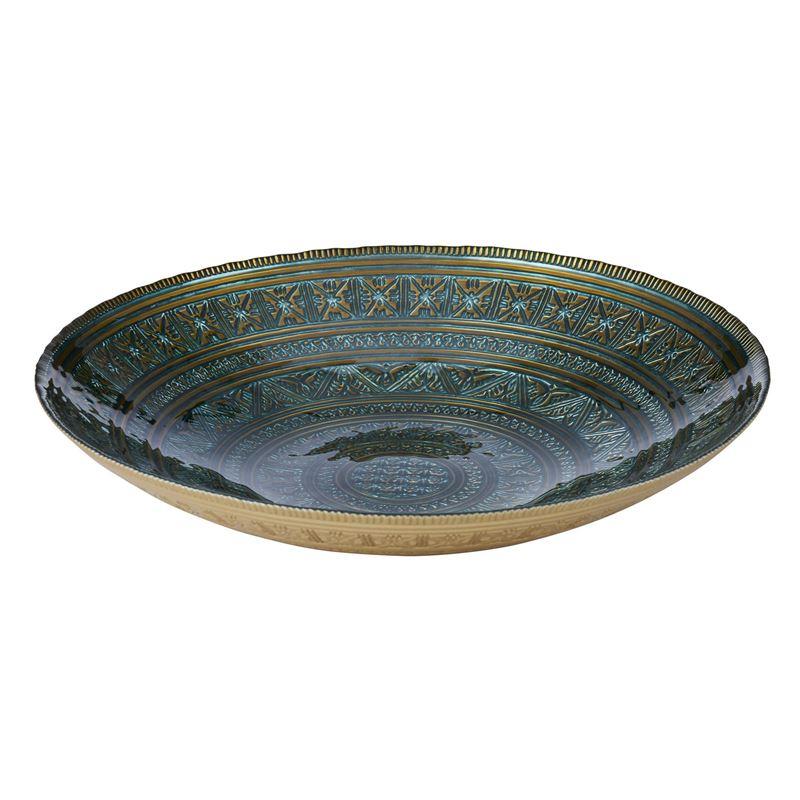 Anya – Karlotta Dark Green and Bronze Shallow Platter 8x40cm