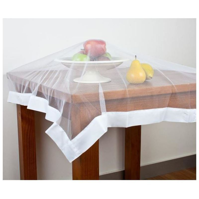 Appetito No Fly Zone – Throw Over Food Cover White 96x96cm
