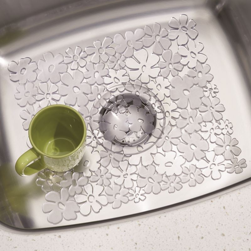 InterDesign – Blumz Sink Mat Small Clear 30.5x25cm