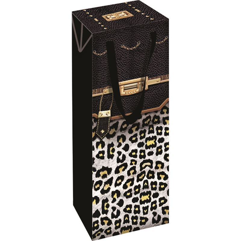 Ogilvies Designs – Gift Bag Box Bottle Bag Leopard
