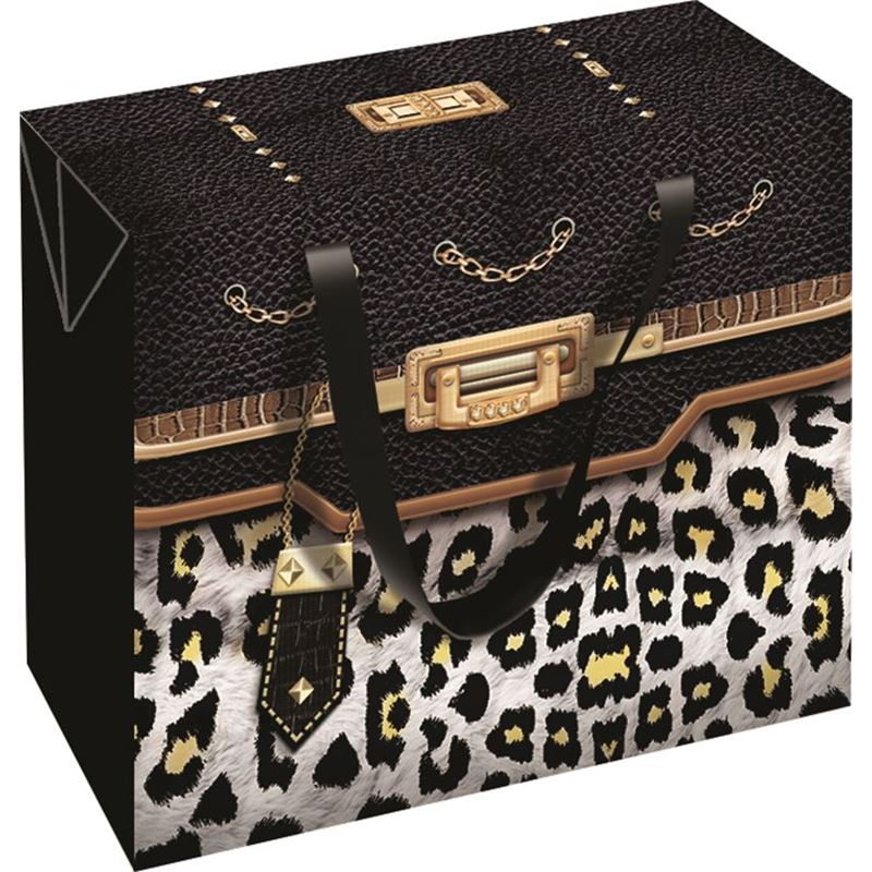 Ogilvies Designs – Gift Bag Box Square Bag Leopard