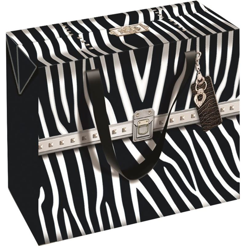 Ogilvies Designs – Gift Bag Box Square Bag Zebra