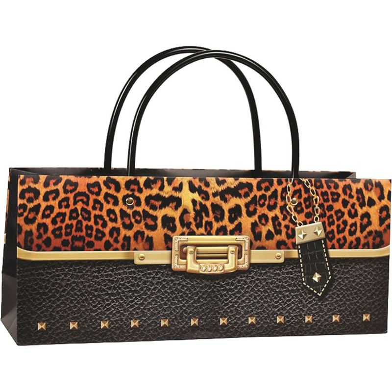 Ogilvies Designs – Gift Bag Box Horizontal Bag Cheetah