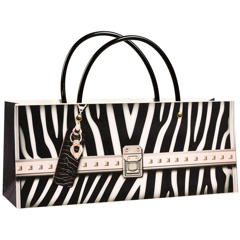 Ogilvies Designs – Gift Bag Box Horizontal Bag Zebra