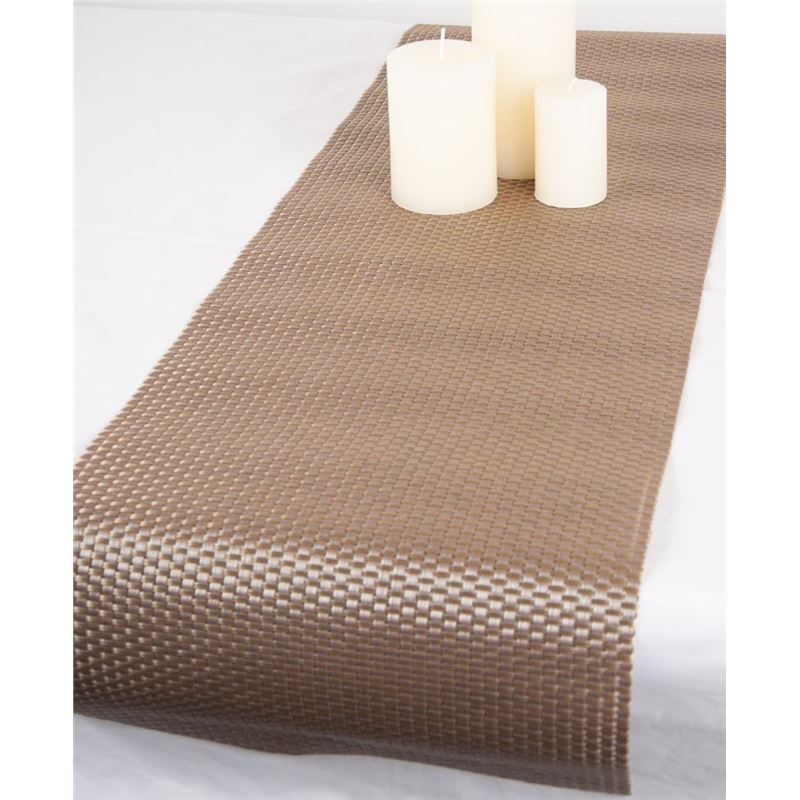 Ogilvies Designs – Woven Living Twill Tablerunner 30x120cm Bronze Acorn