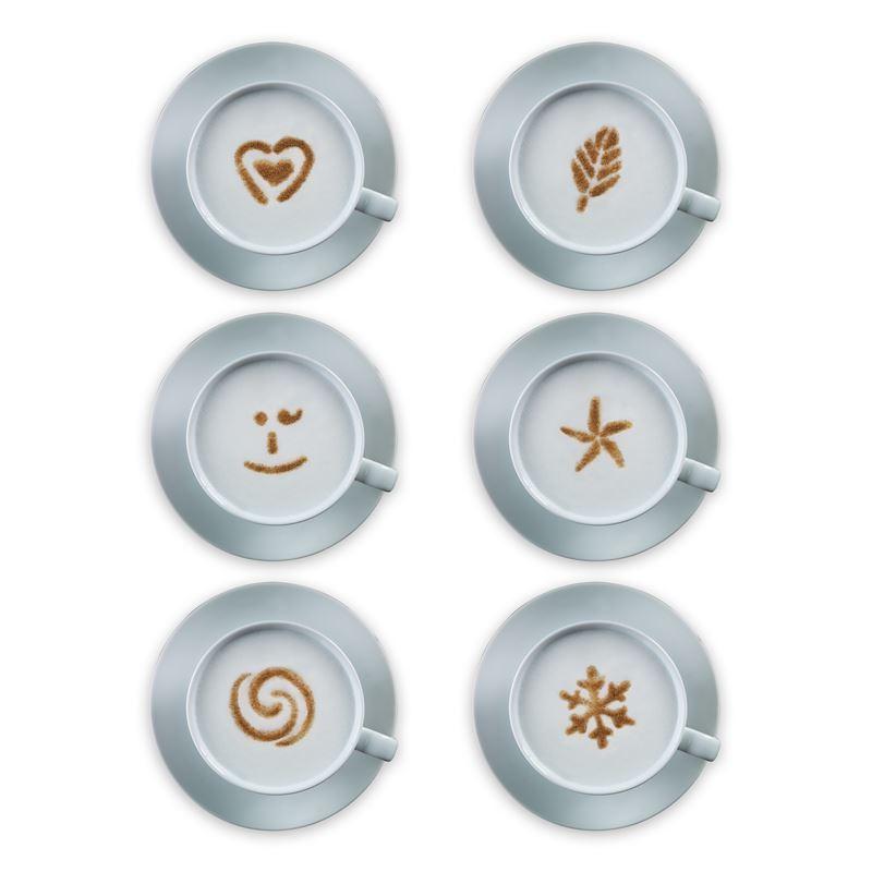 Aerolatte – Cuppuccino Art Coffee Stencils set of 6