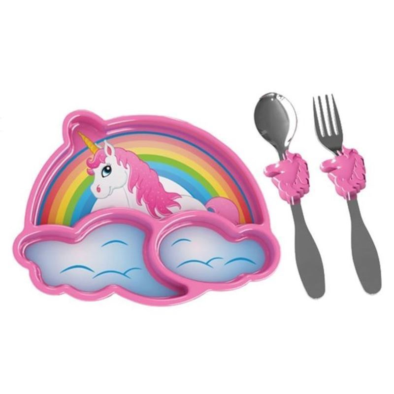 UrbanTrend – Kids Funwares Melamine Meal Time Unicorn