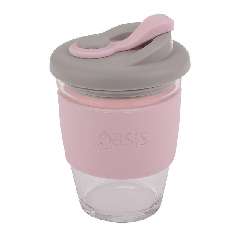 Oasis – Borosilicate Glass Reusable Eco Cup 340ml Pink