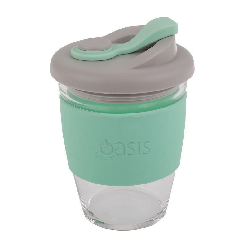 Oasis – Borosilicate Glass Reusable Eco Cup 340ml Spearmint