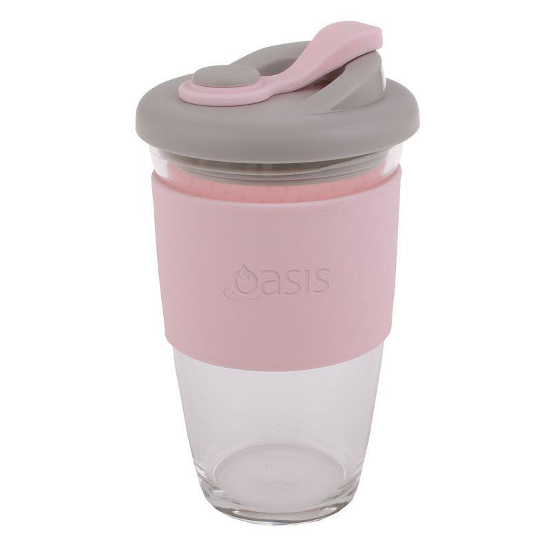 Oasis – Borosilicate Glass Reusable Eco Cup 454ml Pink