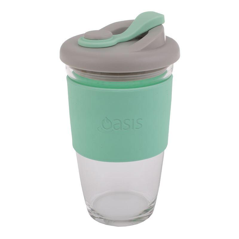 Oasis – Borosilicate Glass Reusable Eco Cup 454ml Spearmint