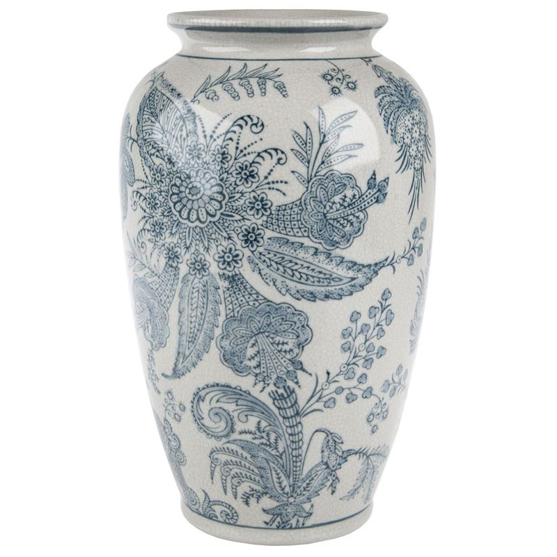 Pimbleton – Chinoiserie Camille Tall Round Vase 27cm
