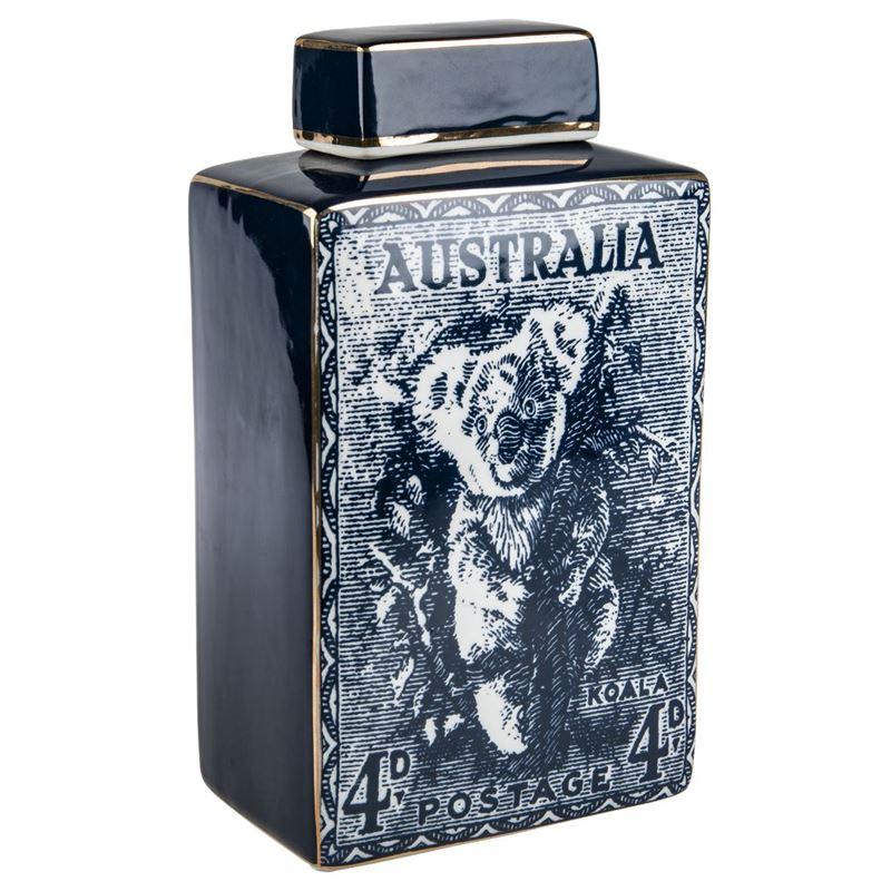 Pimbleton – Australian Stamps Collection Jar 28cm Blue