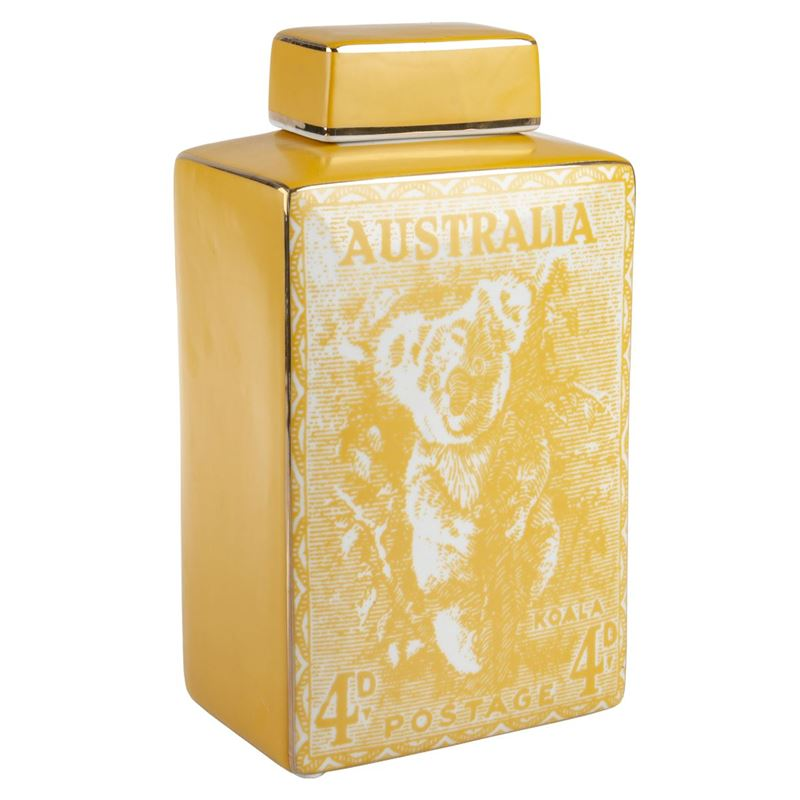 Pimbleton – Australian Stamps Collection Jar 28cm Yellow
