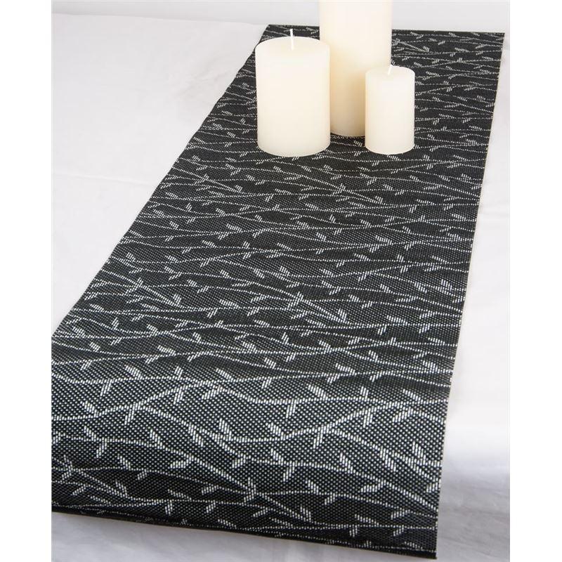 Ogilvies Designs – Woven Living Vine Tablerunner 30x120cm Black