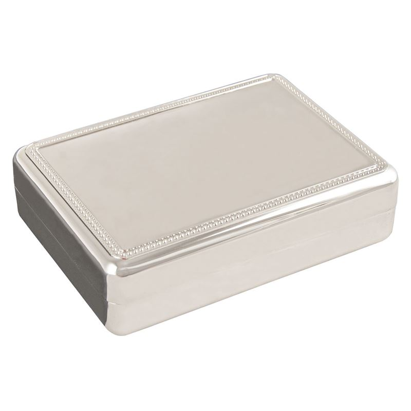 Whitehill – Rectangular Bead Jewellery Box 13.8×10.5×4.3cm