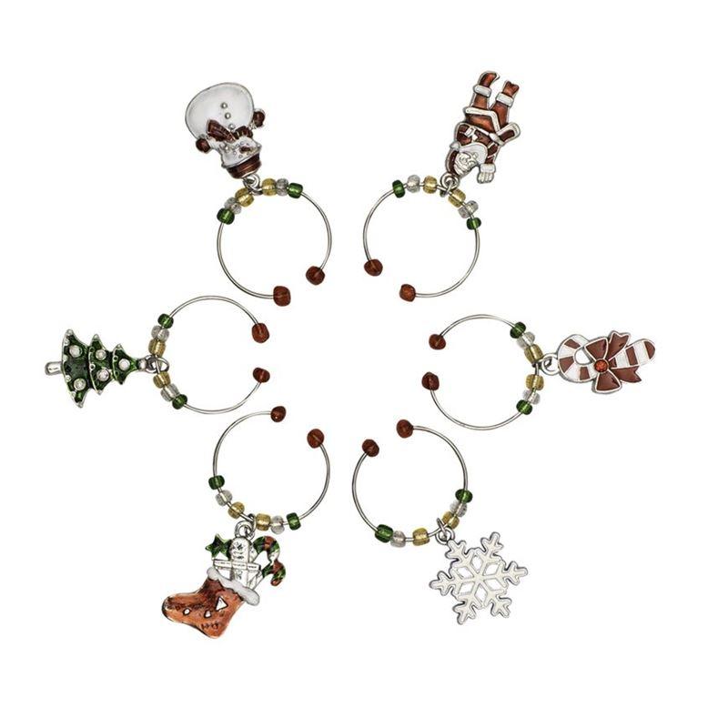 Avanti – Christmas Wine Charms Set of 6