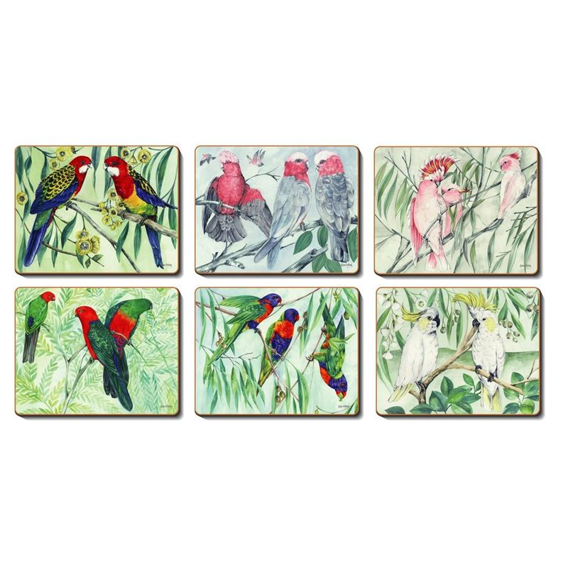 Cinnamon – Australian Parrots Placemat 34×26.5cm Set of 6