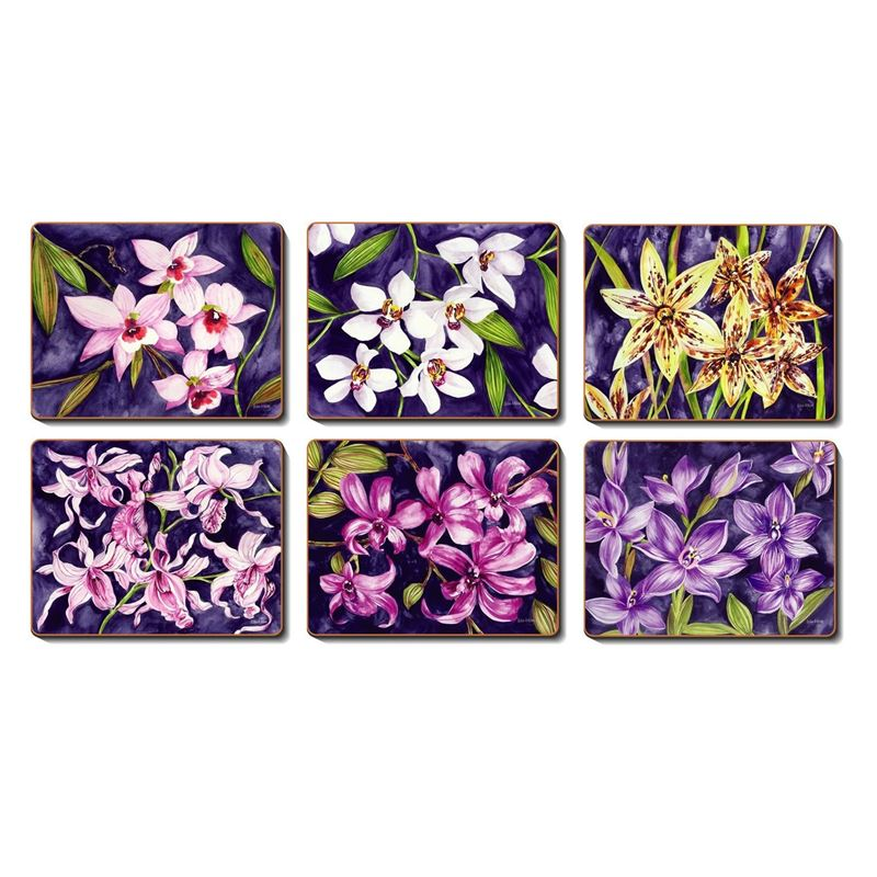 Cinnamon – Orchid Garden Placemat 34×26.5cm Set of 6