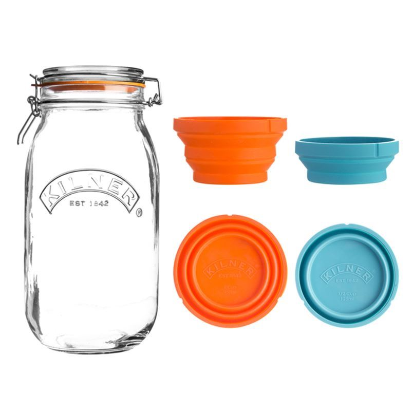Kilner – Measure and Store Set 3Ltr + 125ml and 250ml Cup