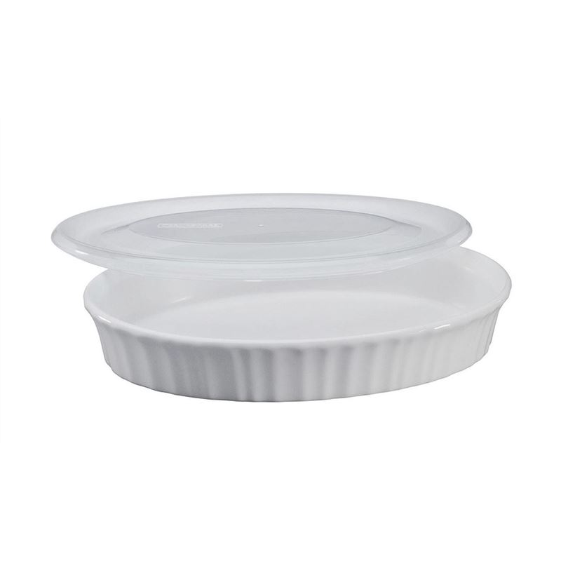 CorningWare French White – Oval Dish with Lid Round 798ml