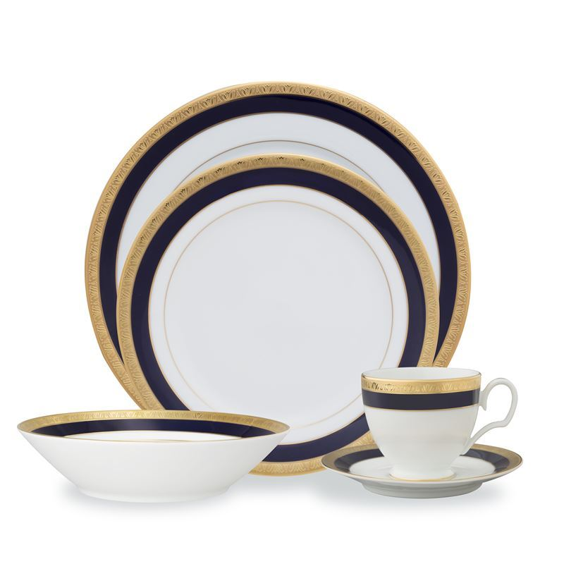 Noritake – Legacy Cobalt Gold 20pc Dinner Set